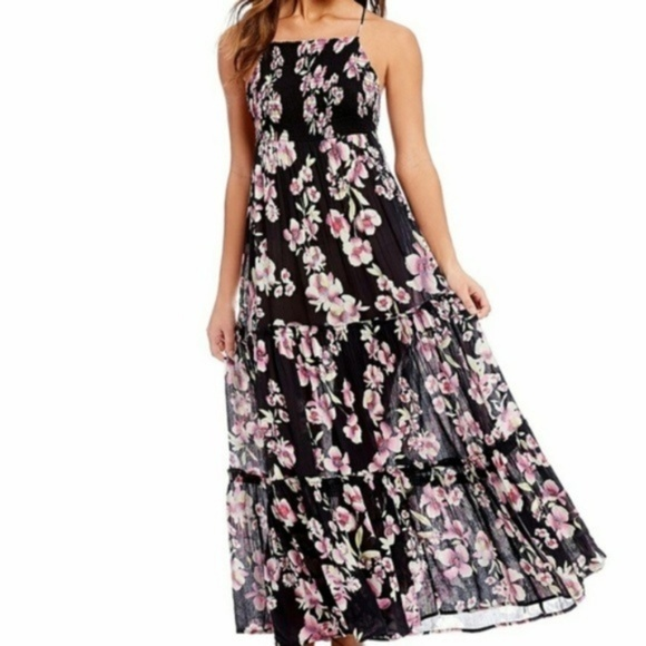 d8dc10393b1 Intimately by Free People Black Floral Maxi Dress